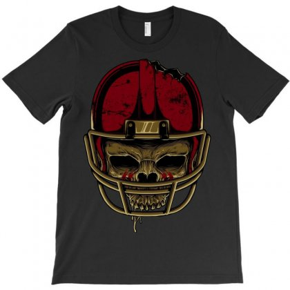 American Football Skull T-shirt Designed By Quilimo