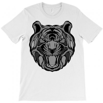 Tiger Zentangle T-shirt Designed By Quilimo