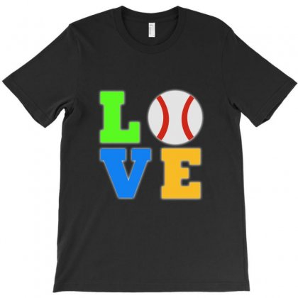 Love Baseball Neon Rhinestuds T-shirt Designed By Ysuryantini21