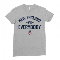 New England VS Everybody Ladies Fitted T-Shirt | Artistshot