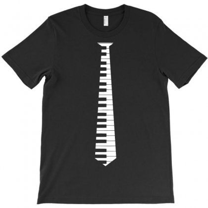 Piano Tie T-shirt Designed By Tshiart