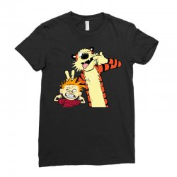 Calvin and hobbes Ladies Fitted T-Shirt | Artistshot