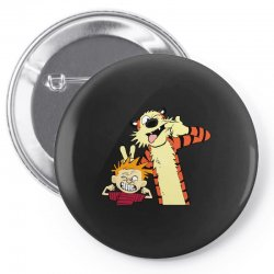 Calvin and hobbes Pin-back button | Artistshot
