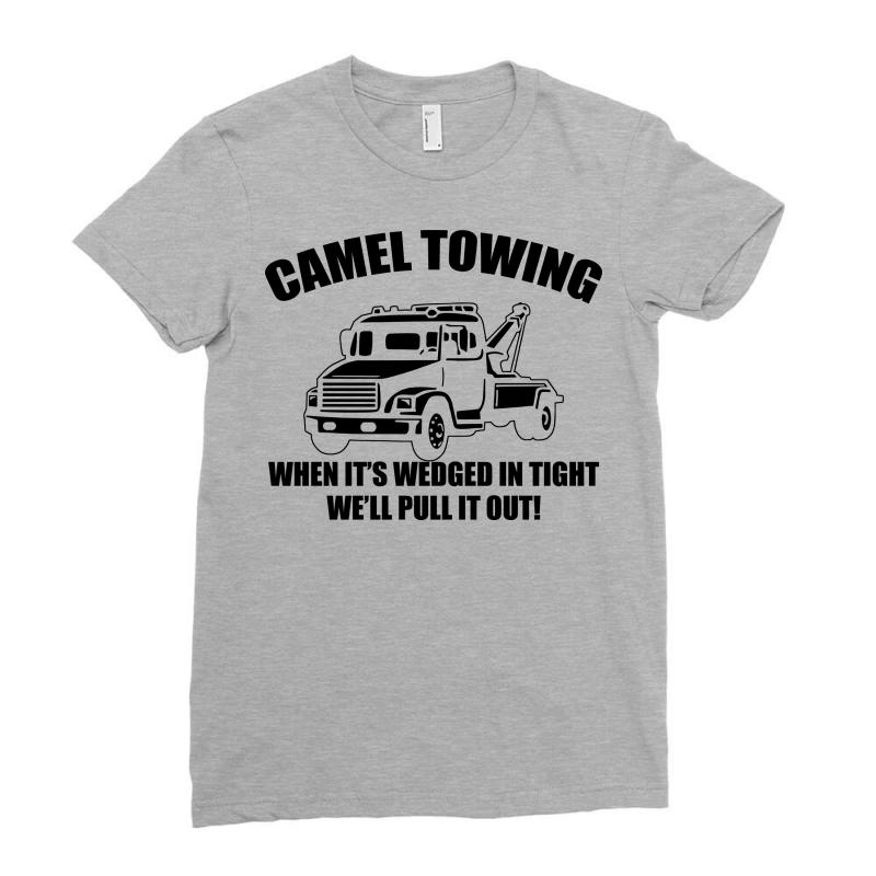 5c66fbc6 camel towing mens t shirt tee funny tshirt tow service toe college hum  Ladies Fitted T-Shirt