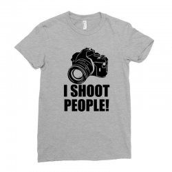 i shoot people t shirt funny photographer tee camera photography digit Ladies Fitted T-Shirt | Artistshot