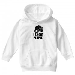 i shoot people t shirt funny photographer tee camera photography digit Youth Hoodie | Artistshot