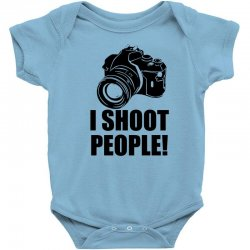 i shoot people t shirt funny photographer tee camera photography digit Baby Bodysuit | Artistshot