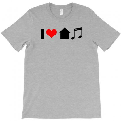 I Love House Music T Shirt Edm Club Wear Rave Electro Party Progressiv T-shirt Designed By Ysuryantini21