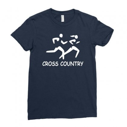 Cross Country High School Running Ladies Fitted T-shirt Designed By Ysuryantini21