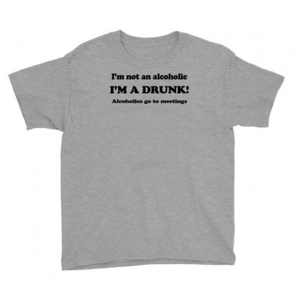 Im Not An Alcoholic Im A Drunk T Shirt X Large Funny Beer Pong Keg Par Youth Tee Designed By Ysuryantini21