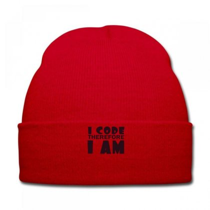I Code Therefore I Am Knit Cap Designed By Ysuryantini21