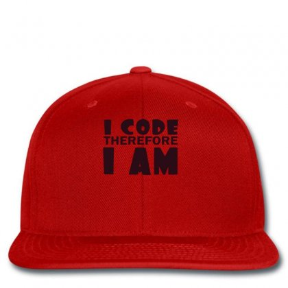 I Code Therefore I Am Snapback Designed By Ysuryantini21