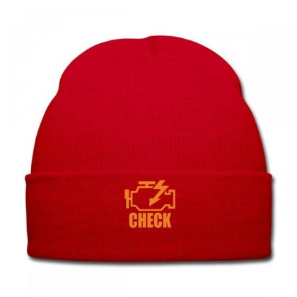 Check Engine Knit Cap Designed By Ysuryantini21