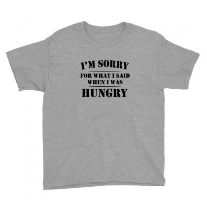 I'm Sorry For What I Said When I Was Hungry T Shirt Youth Tee Designed By Ysuryantini21