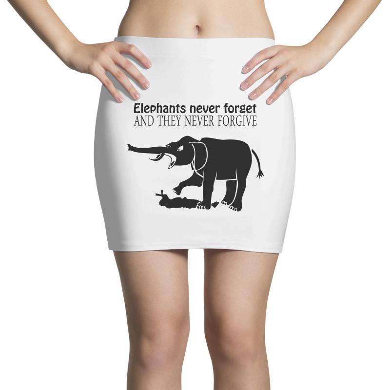 f8cd7493 Custom Elephants Never Forget And They Never Forgive T Shirt Funny Mens Tee  N Mini Skirts By Ysuryantini21 - Artistshot