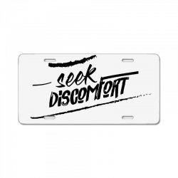 yes theory seek discomfort License Plate | Artistshot