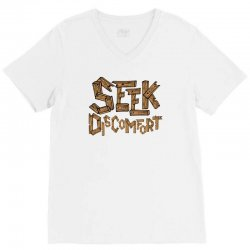 Yes Theory Seek Discomfort V-Neck Tee | Artistshot