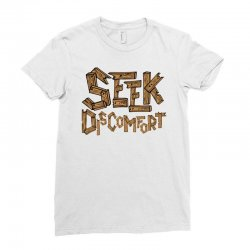 Yes Theory Seek Discomfort Ladies Fitted T-Shirt | Artistshot