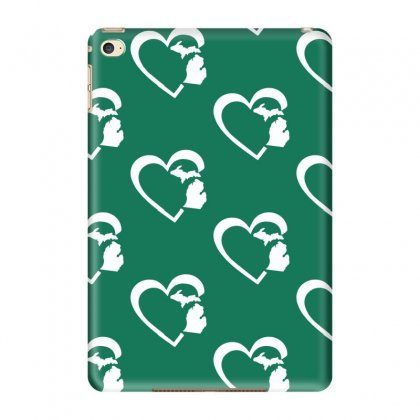 Michigan Heart Love Ipad Mini 4 Case Designed By Tonyhaddearts