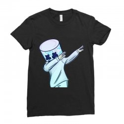 DABBING MARSHMELLO Ladies Fitted T-Shirt | Artistshot