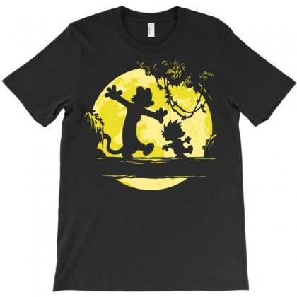 Calvin And Hobbes T-shirt Designed By Tabby