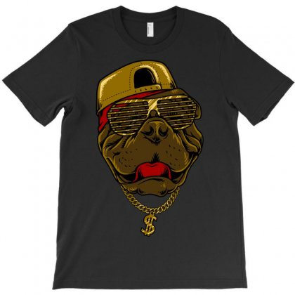 Dog Hip Hop Style T-shirt Designed By Quilimo