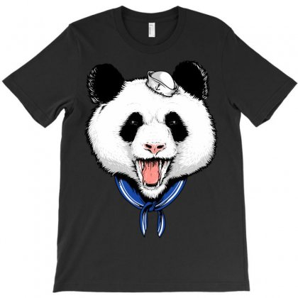 Panda Sailor T-shirt Designed By Quilimo