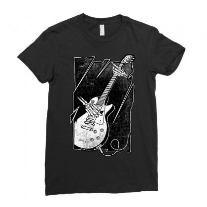Guitarist Ladies Fitted T-shirt Designed By Quilimo