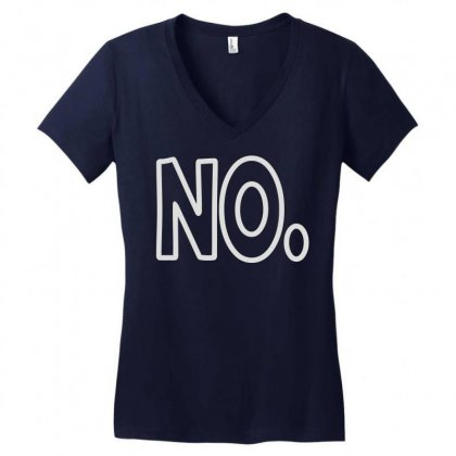 No Women's V-neck T-shirt Designed By Mir Art