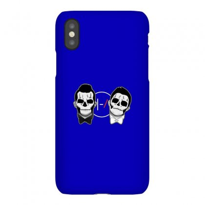 Skull On Two Face Iphonex Case Designed By Putri