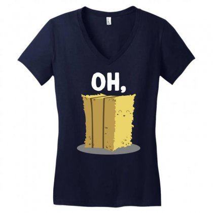 Oh Hay Oh Hey Girl Boy Funny Pun Women's V-neck T-shirt Designed By Mir Art