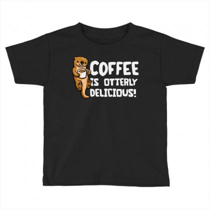 Otter Coffee Toddler T-shirt Designed By Mir Art