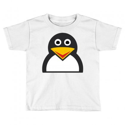 Penguin Face Toddler T-shirt Designed By Mir Art
