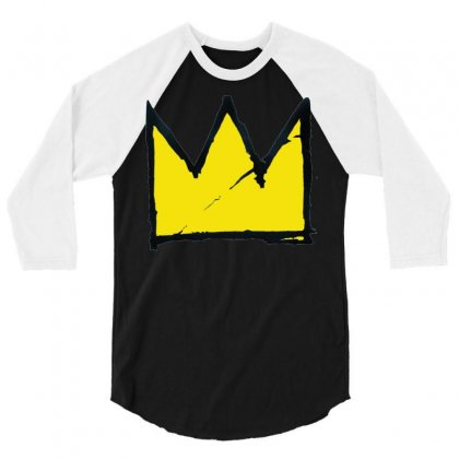 Basquiat Crown 3/4 Sleeve Shirt Designed By Benny