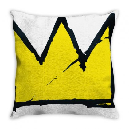 Basquiat Crown Throw Pillow Designed By Benny