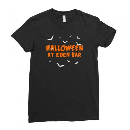 Halloween At Eden Bar Ladies Fitted T-shirt Designed By Aheupote