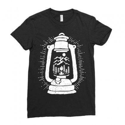 Lantern Ladies Fitted T-shirt Designed By Quilimo