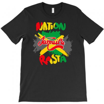 Rasta Nation, The Reggae And Dancehall T-shirt Designed By Aheupote