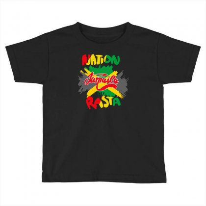 Rasta Nation, The Reggae And Dancehall Toddler T-shirt Designed By Aheupote