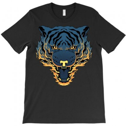 Tiger Fire T-shirt Designed By Quilimo