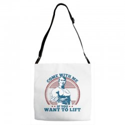 Come With Me If You Want to Lift Adjustable Strap Totes | Artistshot