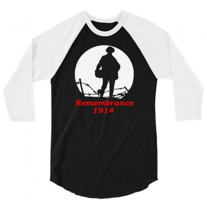 1914 Remembrance 3/4 Sleeve Shirt Designed By Aheupote