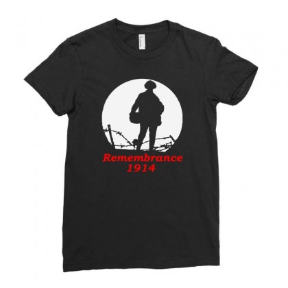 1914 Remembrance Ladies Fitted T-shirt Designed By Aheupote