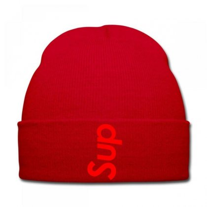 Sup Supreme Red Knit Cap Designed By Killakam