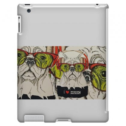 Dog&music Ipad 3 And 4 Case Designed By Crazy