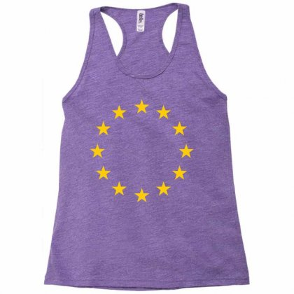 Eu Stars Europe, European Union Flag, Symbol, Sign Racerback Tank Designed By Sabriacar