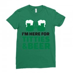 st. patrick's day titties and beer Ladies Fitted T-Shirt | Artistshot