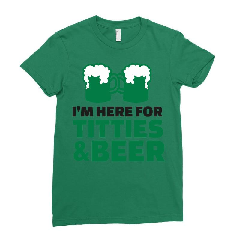St. Patrick's Day Titties And Beer Ladies Fitted T-shirt   Artistshot
