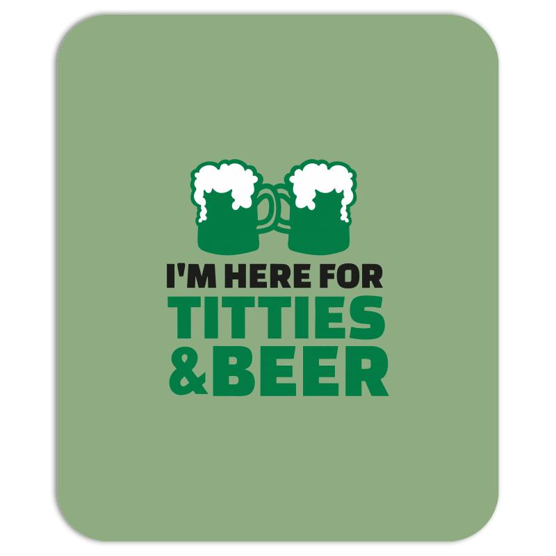 St. Patrick's Day Titties And Beer Mousepad | Artistshot