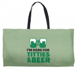 st. patrick's day titties and beer Weekender Totes | Artistshot